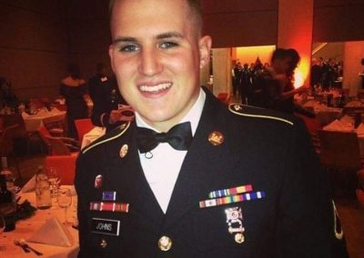 Jared Johns in military dress