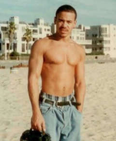 Cedrick Taylor on the beach once a soldier