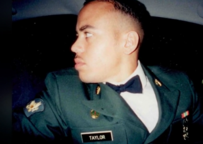Cedrick Taylor in uniform once a soldier